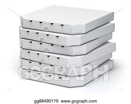 Pizza Box Stack Clipart