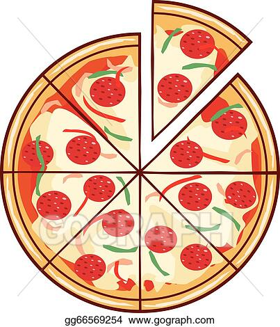 Juicy Slice Of Pizza Illustration With A