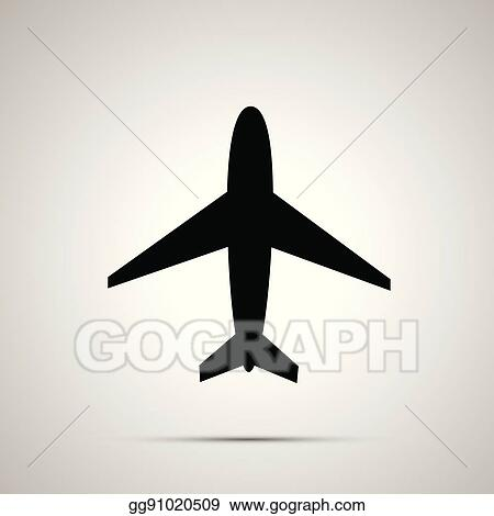 Vector Art Plane Simple Black Icon Clipart Drawing Gg91020509