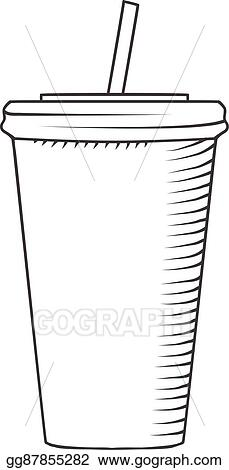 Plastic Cup With A Straw To Drink