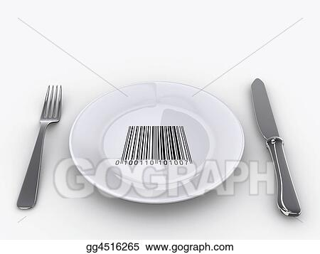 Drawing Plate Barcode Clipart Drawing Gg4516265 Gograph