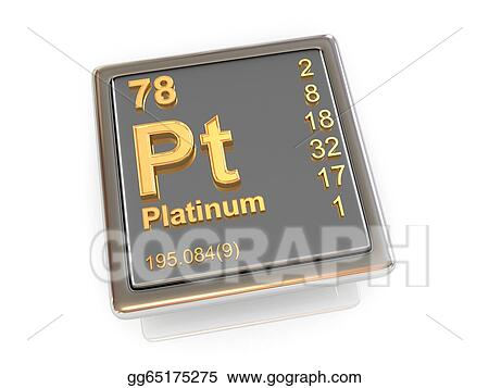 Stock Illustration Platinum Chemical Element Clipart