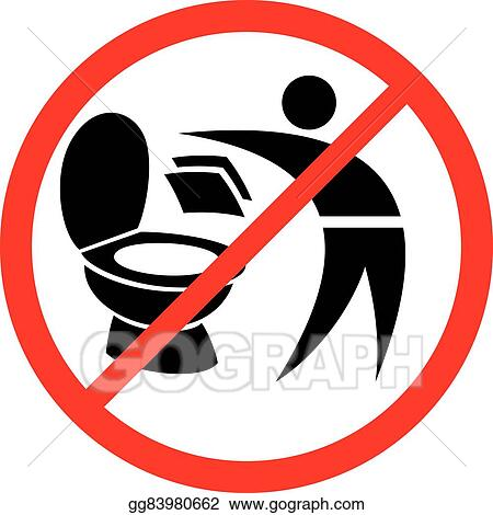 Eps Vector Please Do Not Throw Paper Towels In Toilet