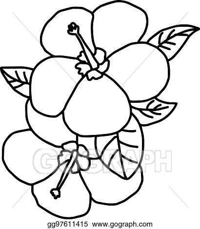 0b2ab7946 Plumeria - vector illustration sketch hand drawn with black lines, isolated  on white background