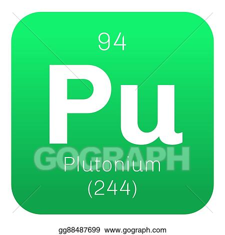 Clip Art Vector Plutonium Chemical Element Stock Eps Gg88487699