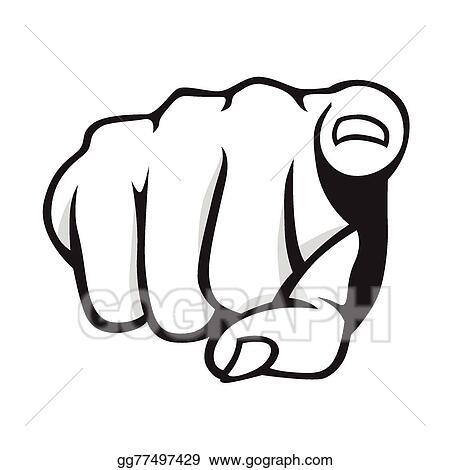 eps illustration pointing finger vector clipart gg77497429 gograph rh gograph com you pointing finger vector pointing finger vector art