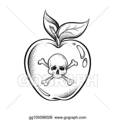 new concept dae65 79107 Vector Stock - Poison apple line art and dot work vector ...
