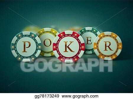 Poker Player Gambler Gambling Retro - Stock Vector - Colourbox