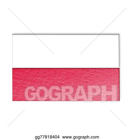 stock illustration poland national flag illustration clipart