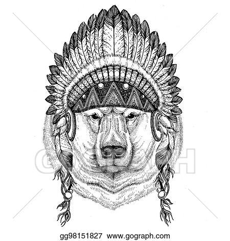 Bear Tribal Art Drawing