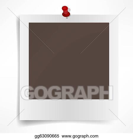 d77e3e80f90 Clip Art Vector - Polaroid photo frame isolated on white background ...