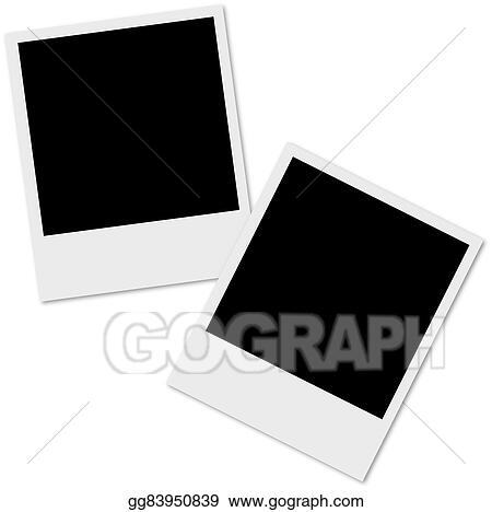 Vector Clipart Polaroid Photo Frame Vector Illustration