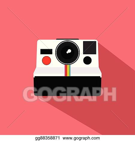Polaroid Vintage Camera Flat Design