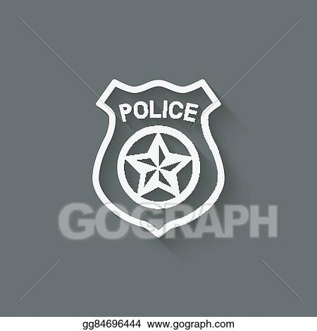Vector Art Police Badge Symbol Clipart Drawing Gg84696444 Gograph