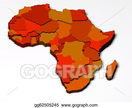 Drawing political map of africa 3d clipart drawing gg62505245 political map of africa 3d gumiabroncs Choice Image