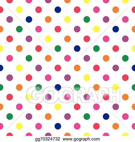 clip art vector polka dots tile vector background stock eps rh gograph com Blue Polka Dot Clip Art red polka dot background clipart