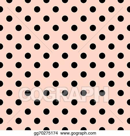Polka Dots Vector Pink Tile Pattern