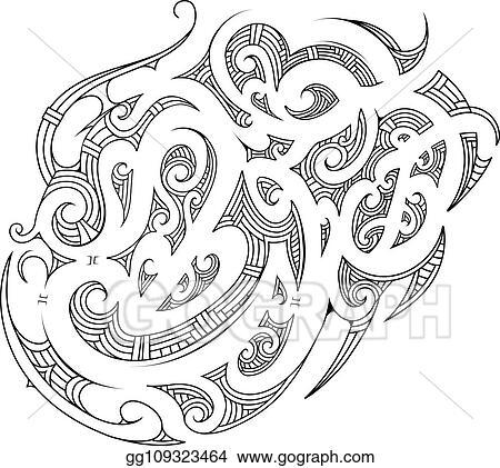 006ceb3e25634 Vector Art - Polynesian ornament with ethnic elements. Clipart ...