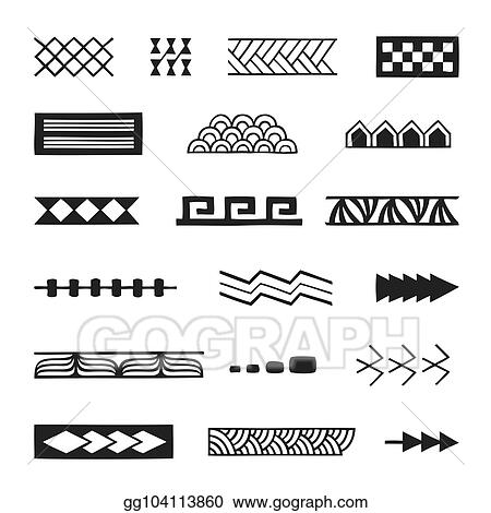 9b2388d4ba9a1 Vector Clipart - Polynesian tattoo indigenous primitive art. Vector ...