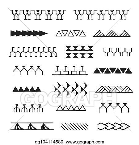 Vector Clipart Polynesian Tattoo Indigenous Primitive Art