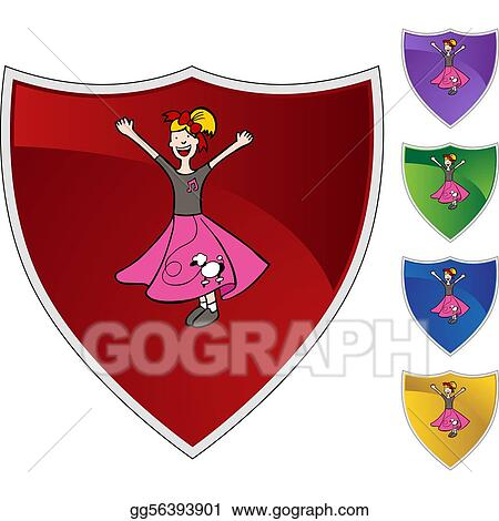 Vector Clipart Poodle Skirt Vector Illustration Gg56393901 Gograph
