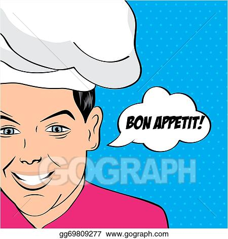 Young man cooking in the kitchen, guy preparing food on frying pan vector  illustration on white background.