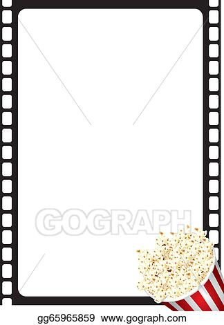 Stock Illustration - Popcorn movie frame. Clipart Drawing gg65965859 ...