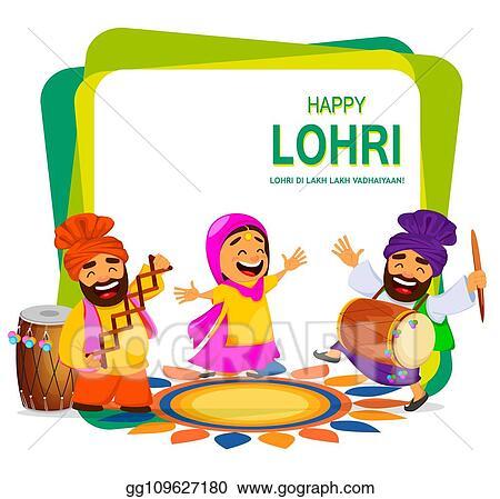 Vector Illustration Popular Winter Punjabi Folk Festival Lohri Stock Clip Art Gg109627180 Gograph