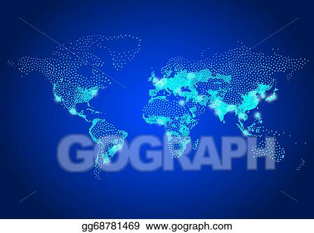 Vector art population world map vector clipart drawing population world map vector gumiabroncs Image collections