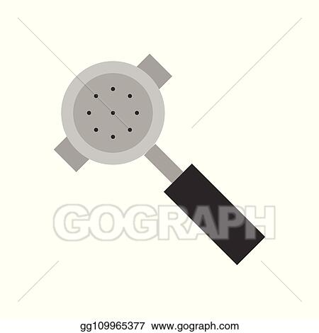 vector art portafilter vector coffee related flat style icon clipart drawing gg109965377 gograph gograph