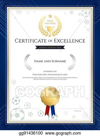 clip art vector portrait certificate of excellence template in