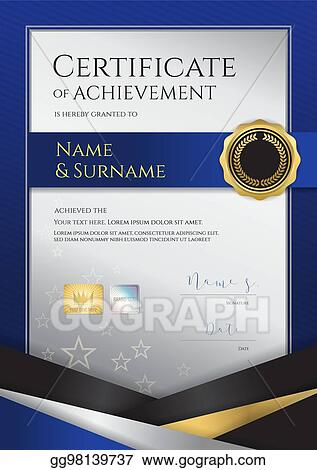 eps illustration portrait luxury certificate template with elegant