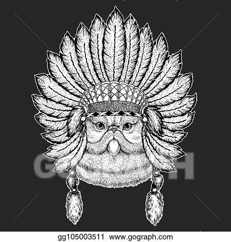 da0029e7c3046 Portrait of fluffy persian cat Traditional ethnic indian boho headdress  Tribal shaman hat Ceremonial element