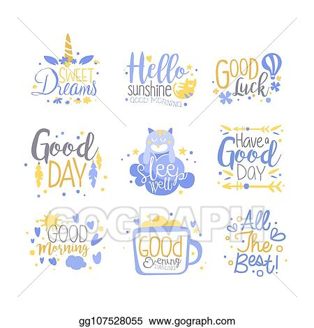 EPS Vector Positive Quotes Set Hand Wriiten Lettering New Motivational Slogans