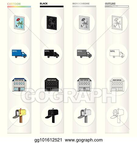 Vector Stock Postal Building Structure And Other Web Icon In