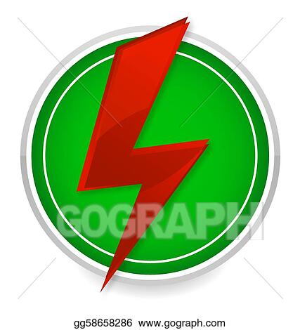 vector art power energy symbol red and green color eps clipart gg58658286 gograph gograph
