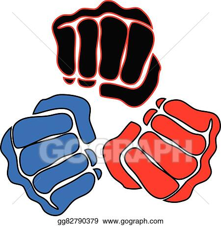 vector illustration power fist mma karate boxing logo stock rh gograph com  mma fighting clipart