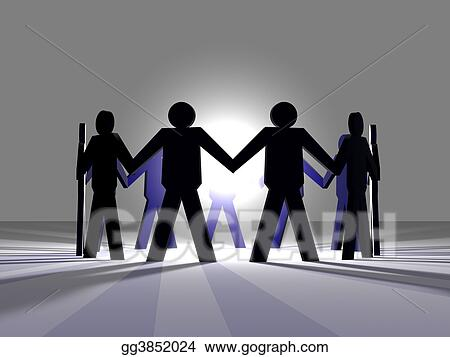 Stock Illustration Power Of Teamwork 3 Clipart Drawing Gg3852024