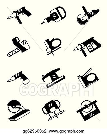 Vector Art - Power tools for construction  Clipart Drawing
