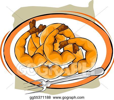 stock illustration prawns clipart drawing gg55371188 gograph rh gograph com free clip art pants free clip art pancake breakfast