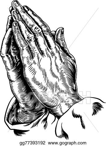 vector clipart praying hands vector vector illustration gg77393192 gograph https www gograph com clipart license summary gg77393192