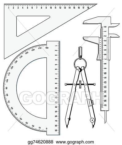 Vector Illustration - Precision geometry  Stock Clip Art
