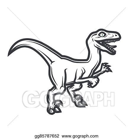 eps vector prehistorical dino logo concept raptor insignia design rh gograph com Raptor Dinosaur Raptor Outline