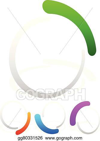 Vector Art - Preloader, buffer shapes, symbols  editable