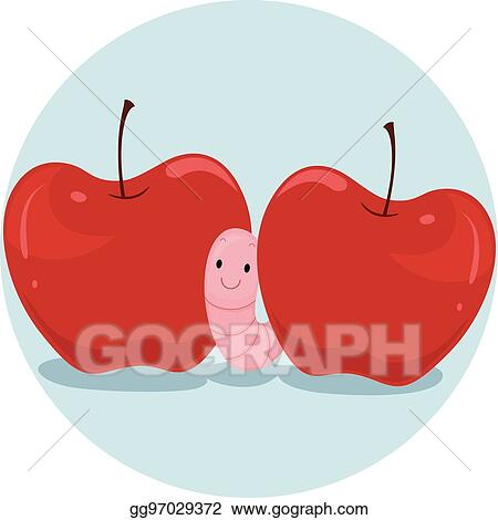 Preposition Apple Worm Between