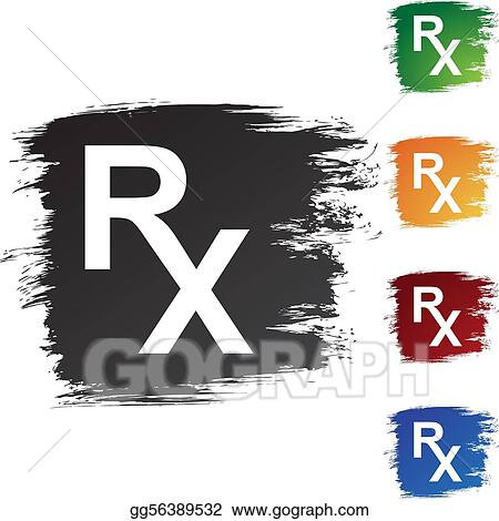 Vector Stock Prescription Symbol Clipart Illustration Gg56389532