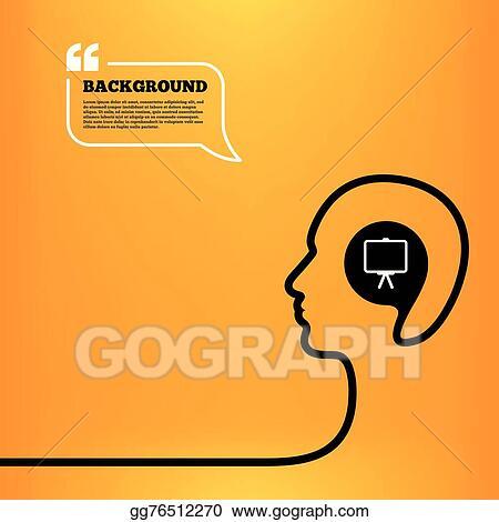 vector illustration - presentation billboard sign icon. ppt symbol, Powerpoint templates