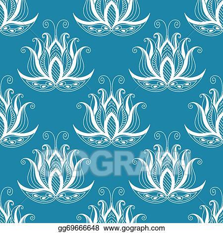 vintage floral repeat seamless pattern