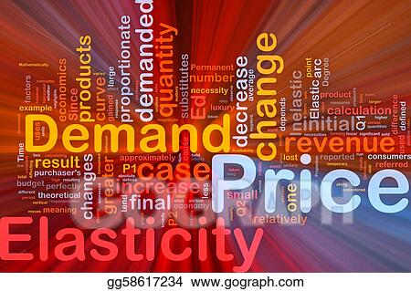 Stock Illustration - Price elasticity background concept glowing