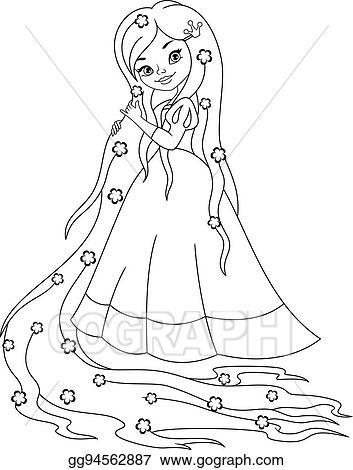Princess Rapunzel Coloring Page